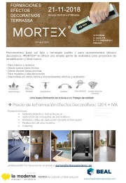 MORTEX: FORMACIONES EFECTOS DECORATIVOS